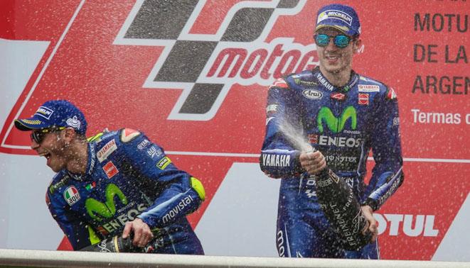 Selebrasi Rossi Marquez