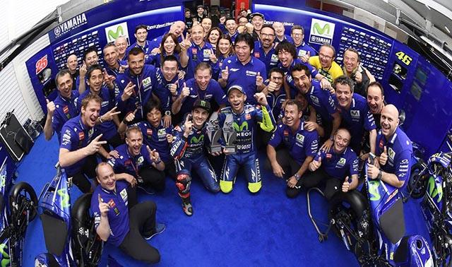 Selebrasi 499 kemenangan Yamaha Argentina 2017