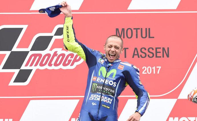 Rossi podium Assen 2017