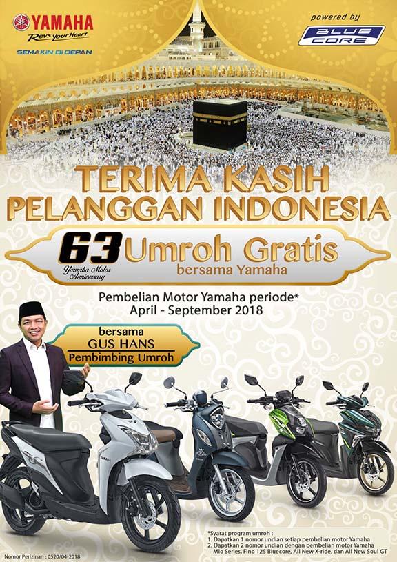 Beli Sepeda Motor Yamaha Berhadiah Umroh