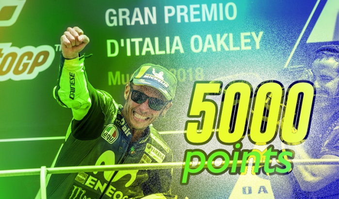 Rossi 5000 poin 2018