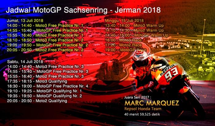 Jadwal MotoGP Jerman 2018