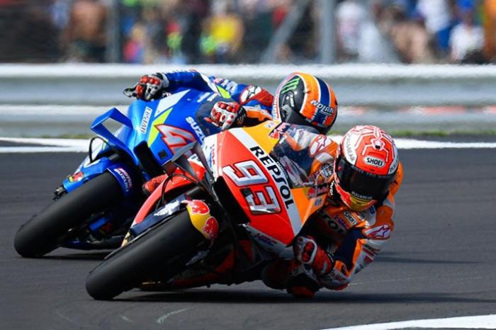 Duel Rins Marquez di Silverstone 2019