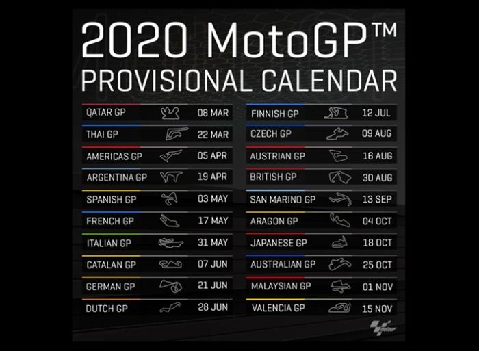 Kalender MotoGP 2020