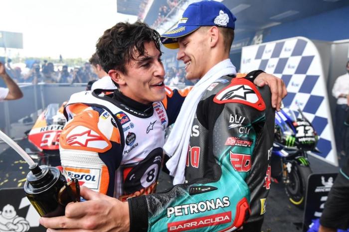 Marquez Quartararo usai MotoGP Thailand 2019